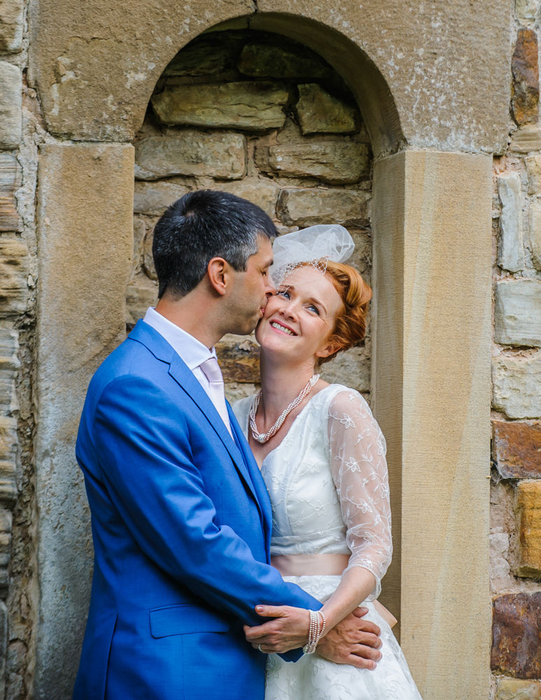 Kiss for bride, Sheffield weddings