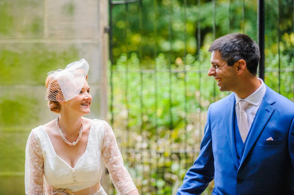 Walking bride and groom, Sheffield photographers