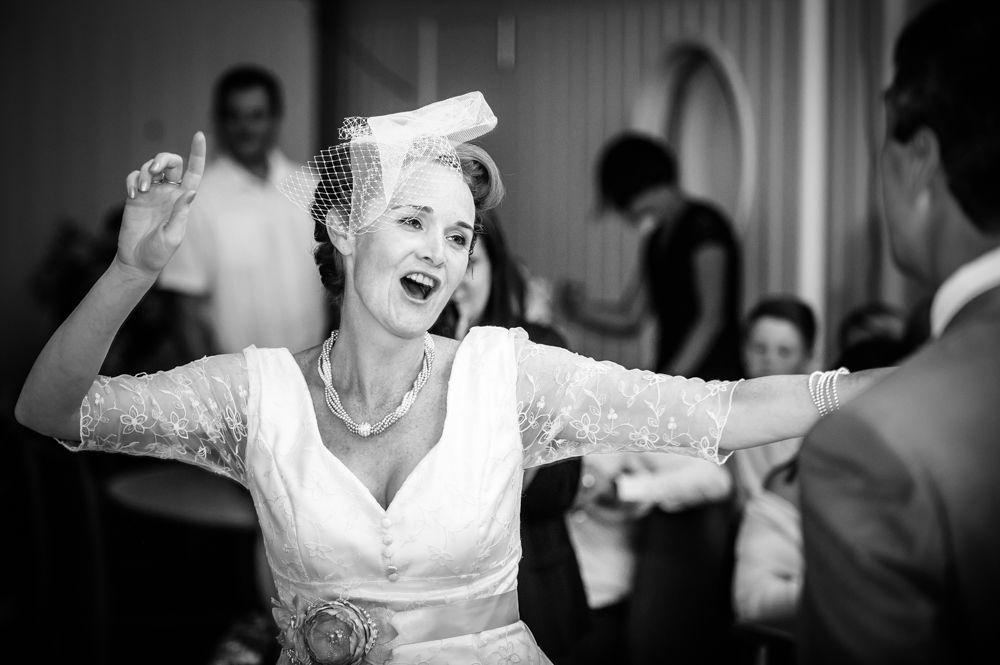 Bride dancing, Barnsley wedding photographers