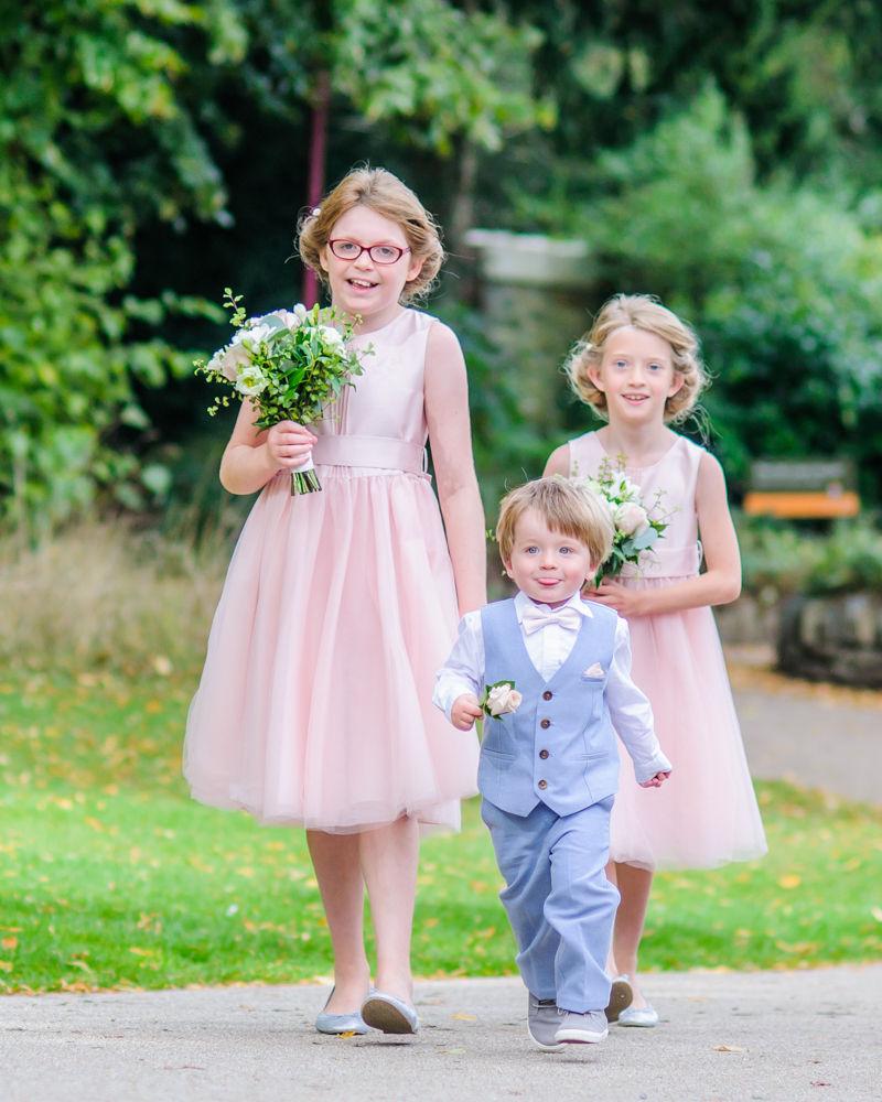 Bridesmaids and pageboy, Sheffield wedding