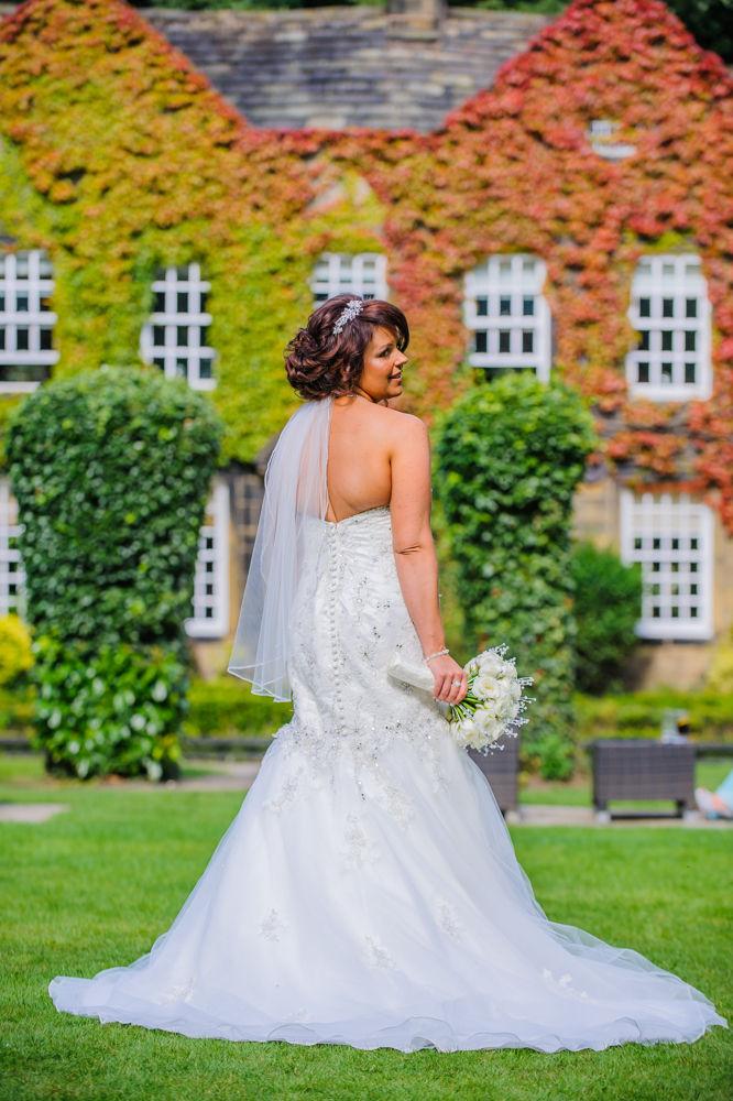 Back details brides dress, Whitley Hall weddings, Sheffield wedding photographers