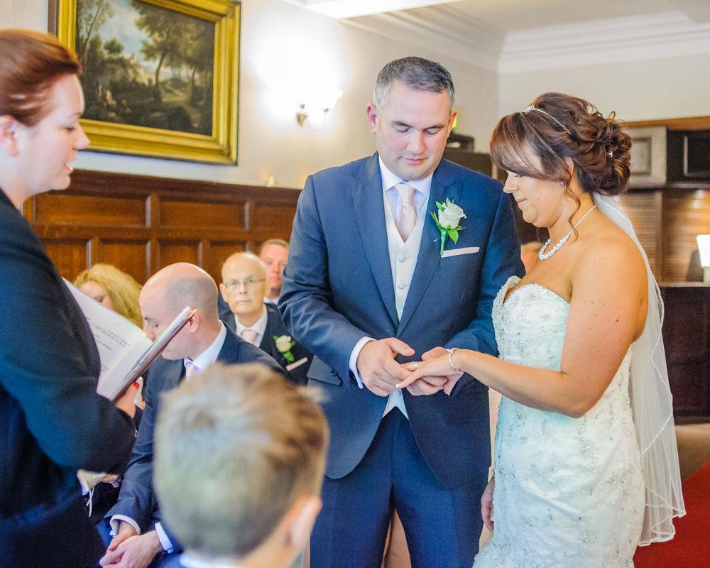 Ring exchange, Whitley Hall weddings, Sheffield wedding photographers