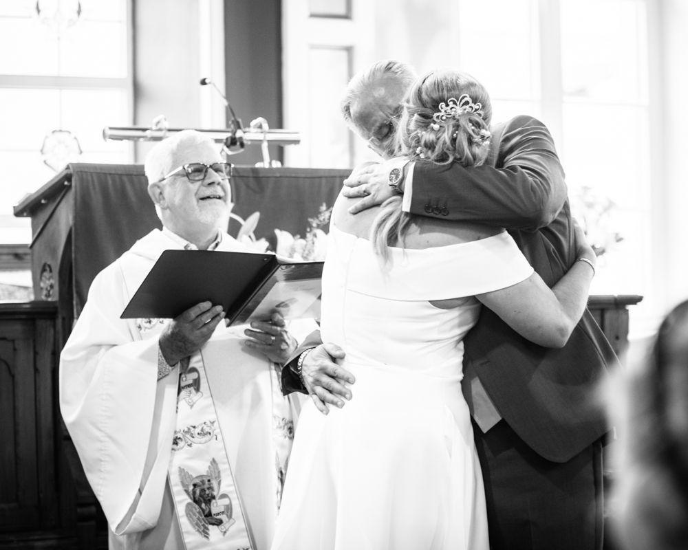 First kiss, Sheffield wedding photographer