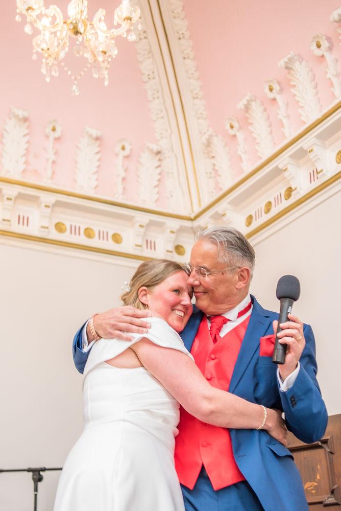 Lake DIstrict weddings, Hugs during speeches
