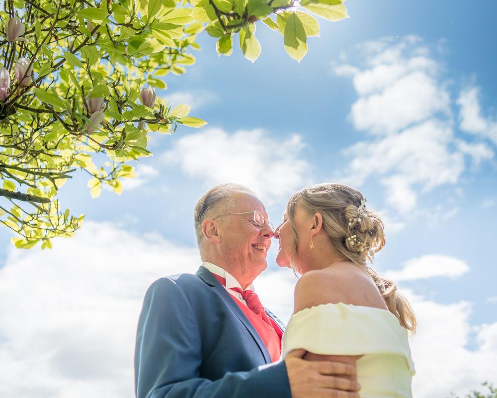 Blue skies, Lake District wedding photography, Kendal