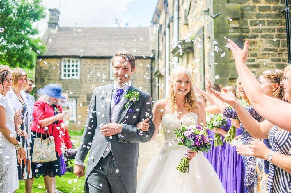 Confetti fun, Maynard wedding, Sheffield photographers