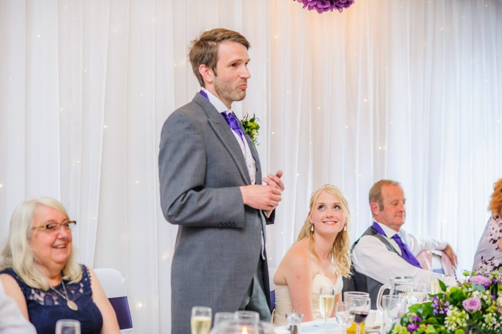 Nick's grooms speech, Maynard wedding, Sheffield photographers