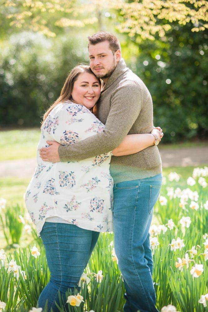 Cuddles on engagement portraits, Sheffield wedding photographers