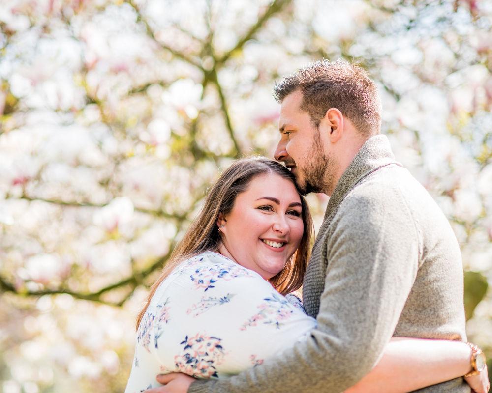 Kissing on head, Lake District wedding photographers