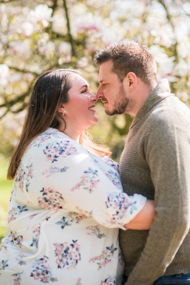 Touching noses, Sheffield wedding photographers