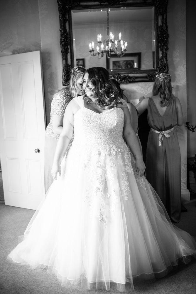 Bride getting dressed, Ye Olde Bell