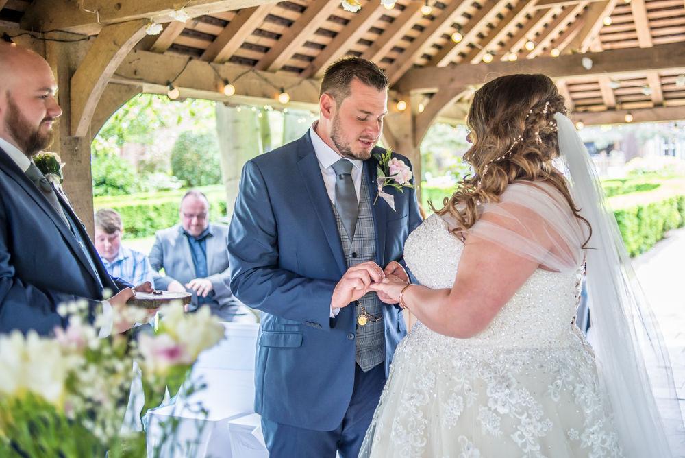 Ring exchange, Ye Olde Bell wedding, Retford
