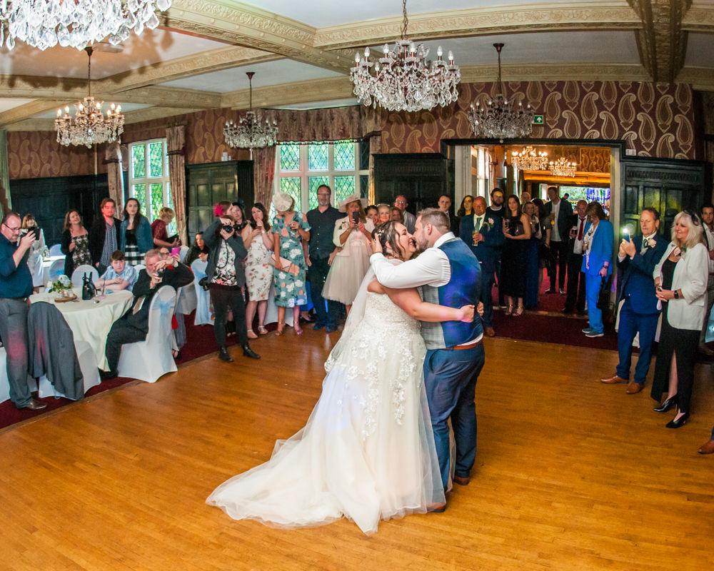 First dance, Ye Olde Bell wedding, Retford