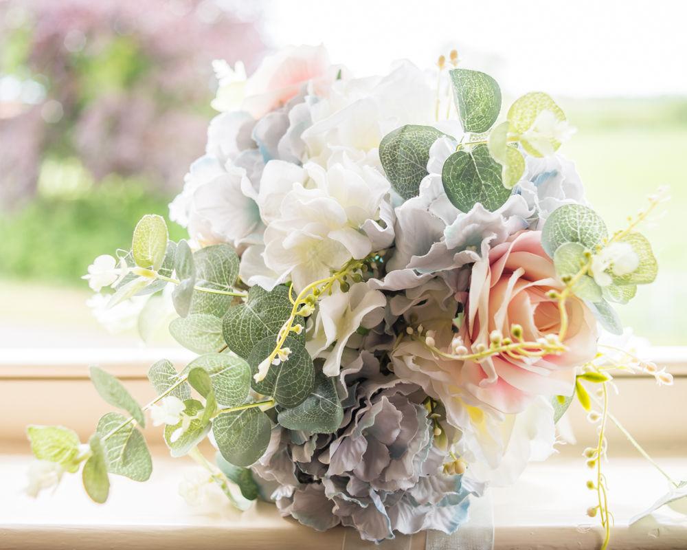 Bridal bouquet with hydrangeas, Retford wedding