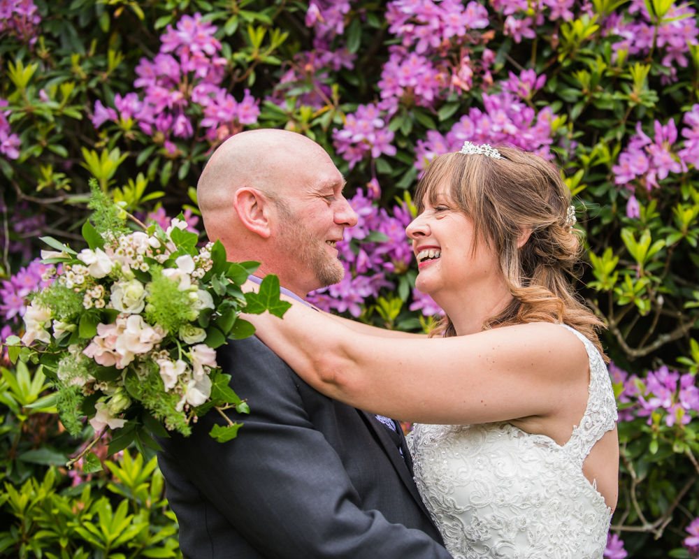 Laughing together, Merewood Country Hotel Hotel weddings, Lake District