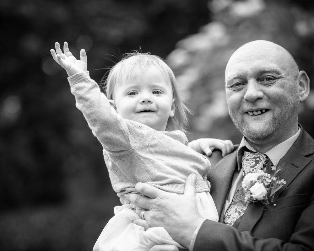 Winnie waving, Merewood Country Hotel Hotel weddings, Lake District