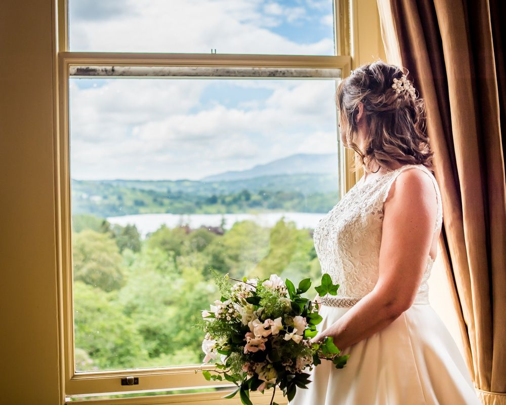 View of Windermere on wedding morning, Merewood Country Hotel Hotel weddings, Lake District