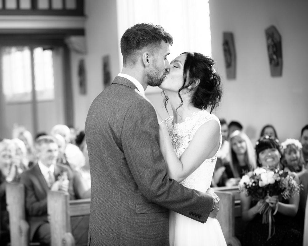 First kiss in church, Sheffield weddings
