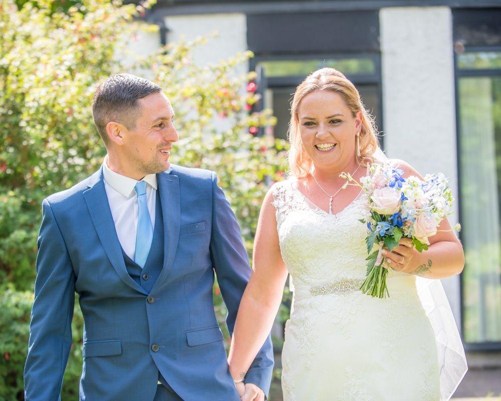 Walking down to the Lake, Windermere wedding photographers