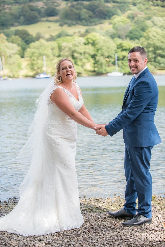 Laughter by the Lake, Windermere wedding portraits