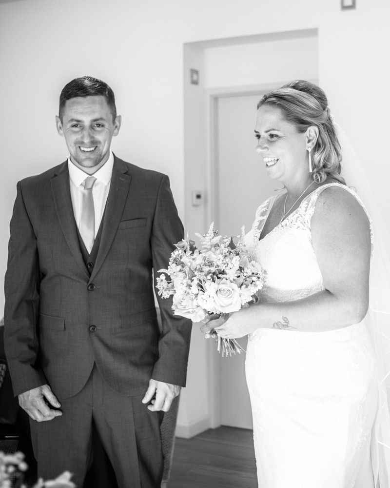 Laughing during the ceremony, Windermere weddings