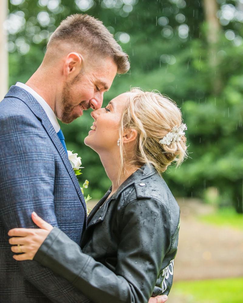 Touching noses,  wedding photographers Carlisle register office elopement wedding Lake District