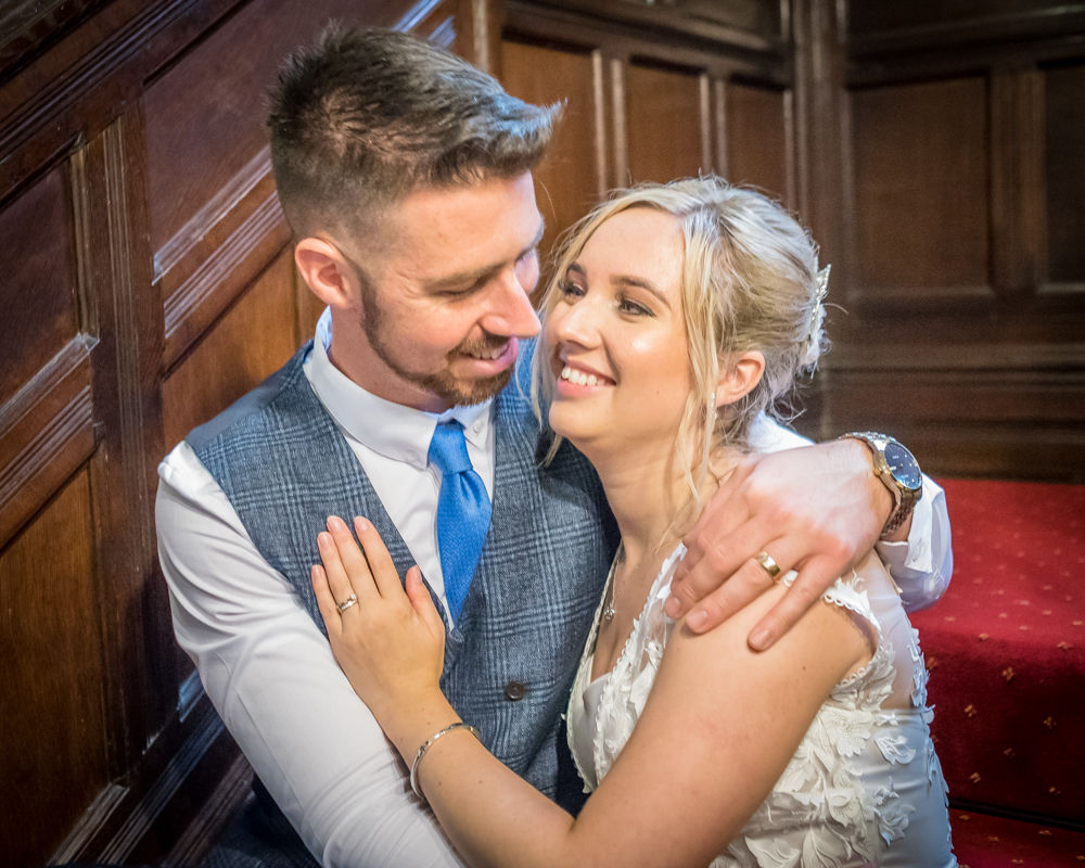 Looking into each others eyes,  wedding photographers Carlisle register office elopement wedding Lake District