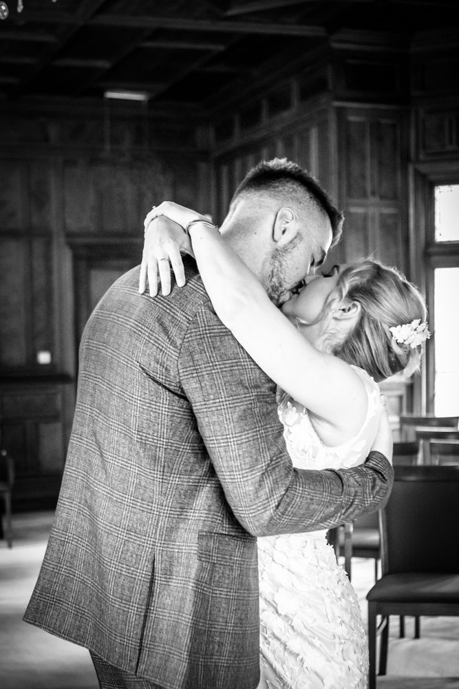 First kiss,  wedding photographers Carlisle register office elopement wedding Lake District