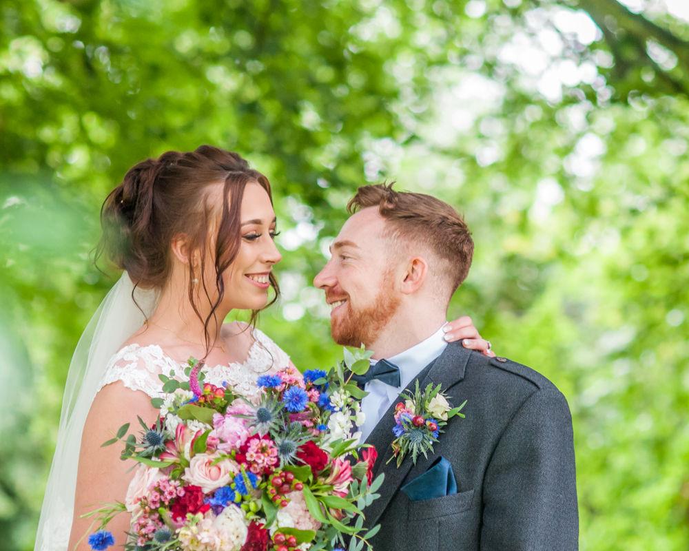 Intimate looks, wedding couple, Sheffield wedding photographers, Ringwood Hall Hotel