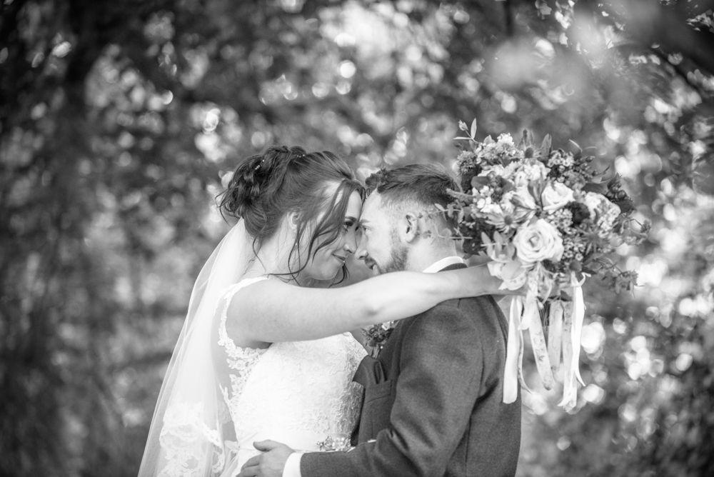 Bride and groom happy posing, Sheffield wedding photographers, Ringwood Hall Hotel