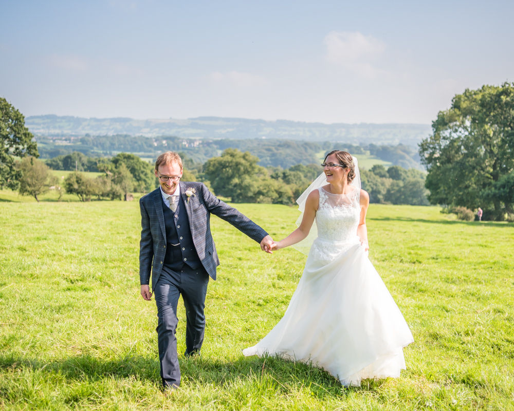 Walking and avoiding cow pats! Shireburn Arms, Lancashire wedding photographers