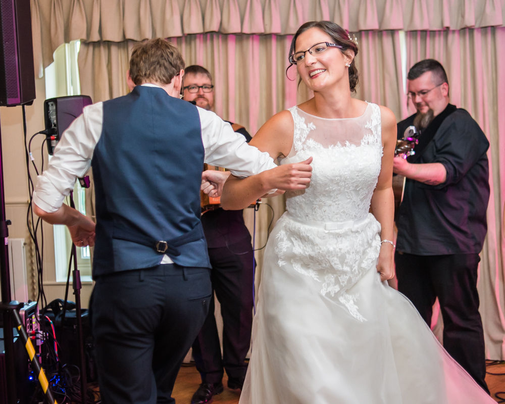 Bride and groom dancing, Shireburn Arms, Lancashire wedding photographers