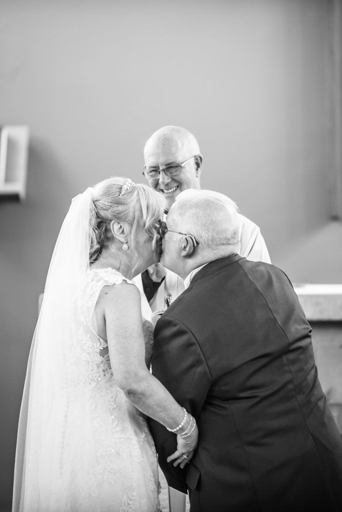 First kiss,  Hotel Van Dyk wedding photography Chesterfield