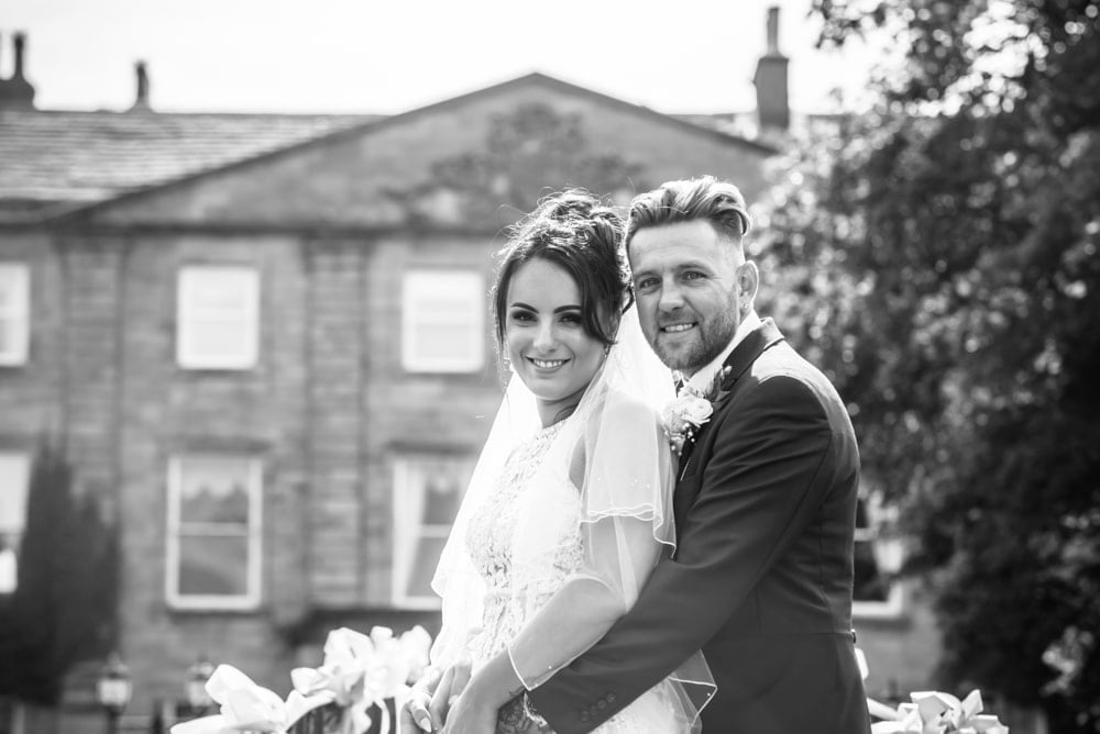 Smiling for the camera, Waterton Park Hotel weddings, Yorkshire wedding photographers