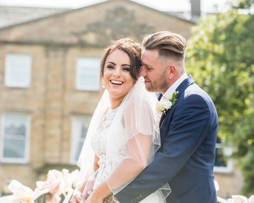Laughing, Waterton Park Hotel weddings, Yorkshire wedding photographers
