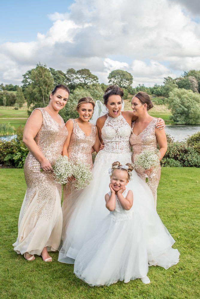 Flowergirl posing, Waterton Park Hotel weddings, Yorkshire wedding photographers