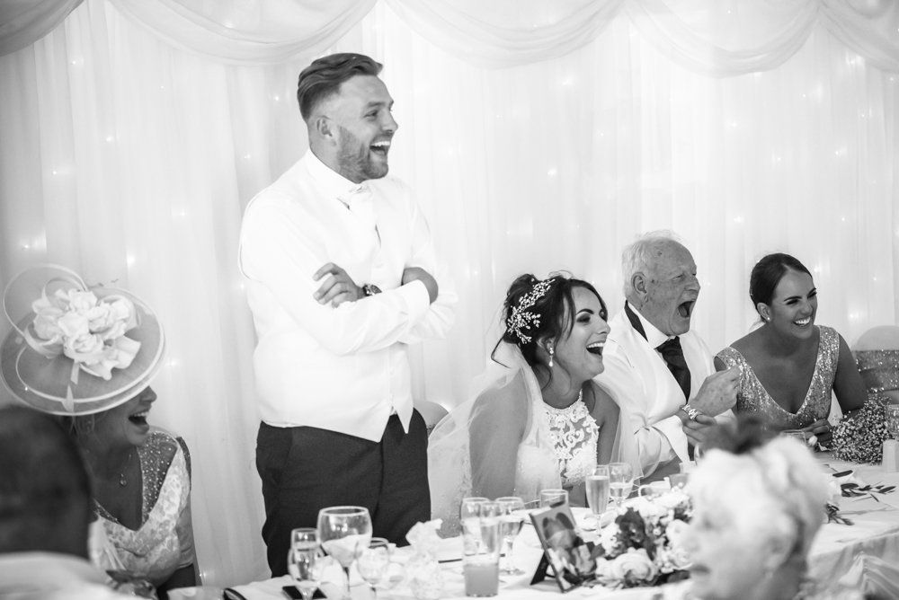 Grooms speech, Waterton Park Hotel weddings, Yorkshire wedding photographers