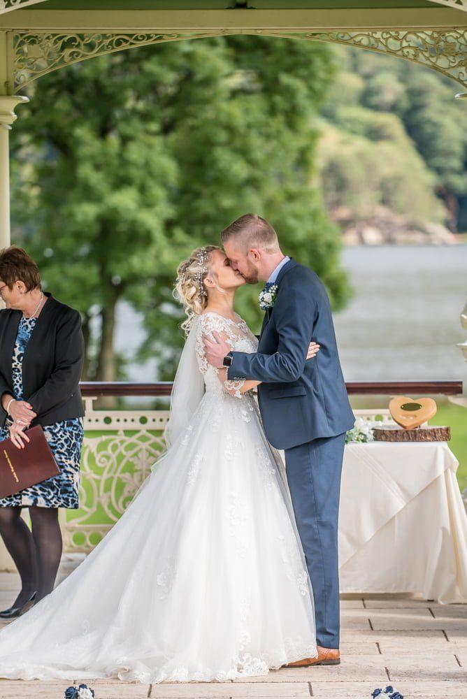 First kisses, Inn on the Lake Weddings, Lake District