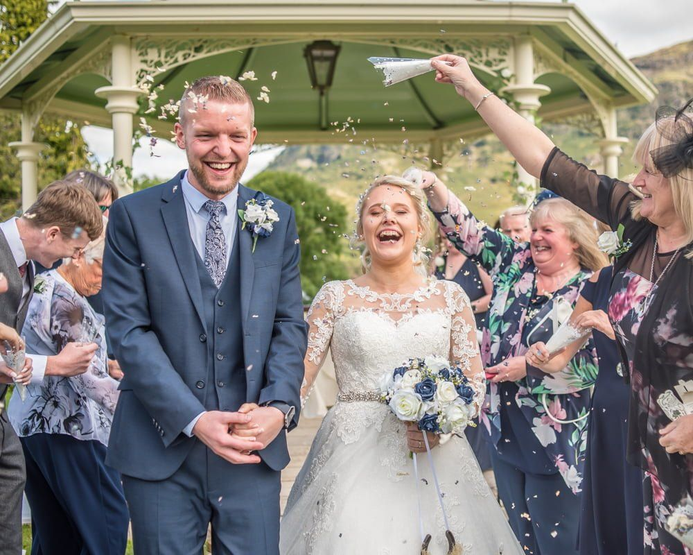More confetti, Inn on the Lake Weddings, Lake District