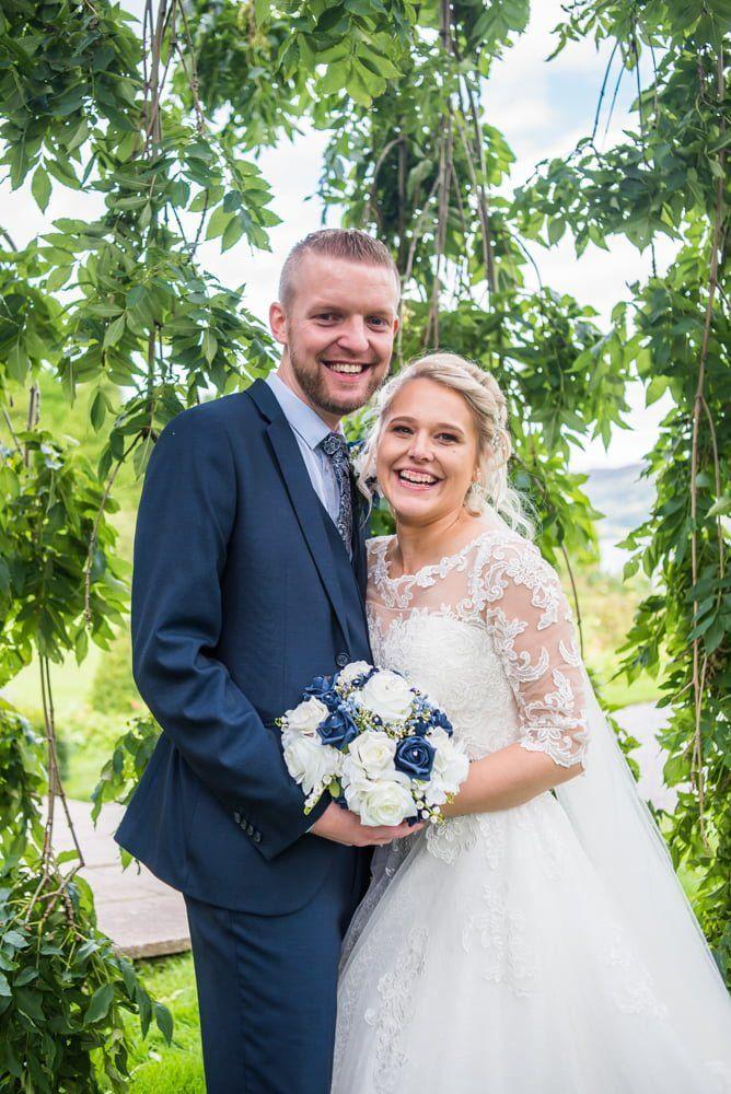 Happy bride and groom, Inn on the Lake Weddings, Lake District