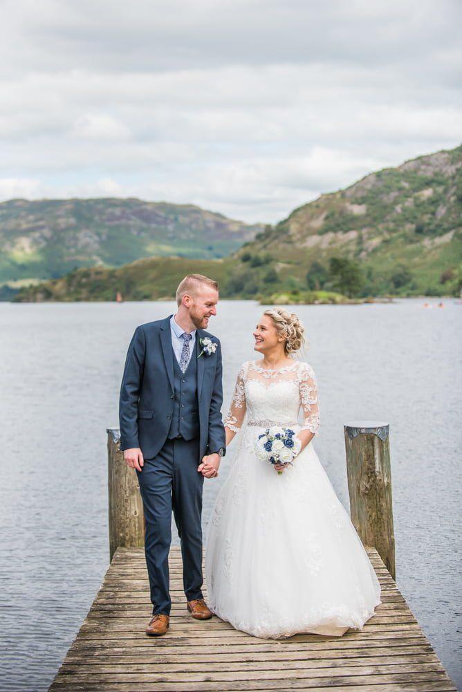Happy smiling couple, Inn on the Lake Weddings, Lake District