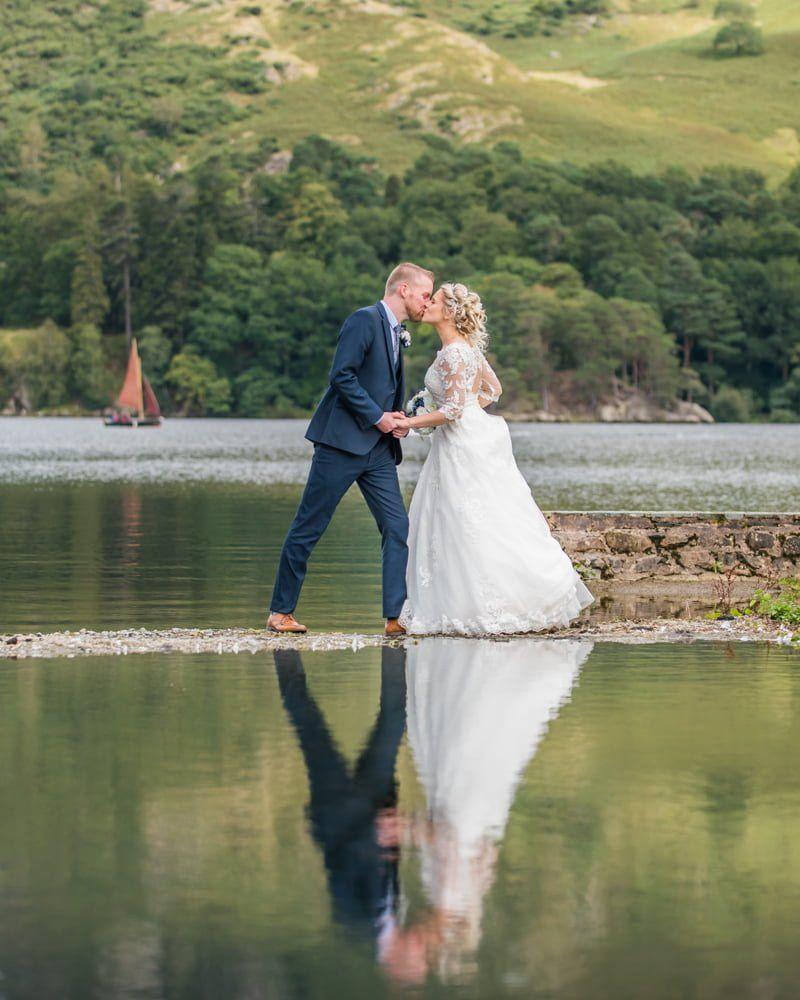 Kisses, Inn on the Lake Weddings, Lake District
