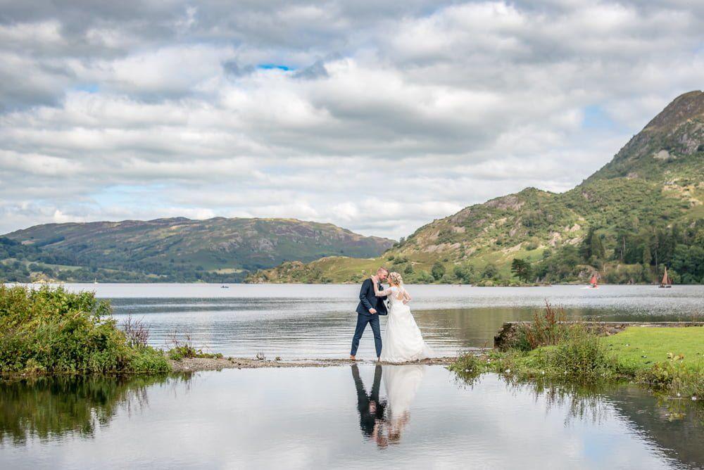 Wide angle shot of UIllswater, Inn on the Lake Weddings, Lake District