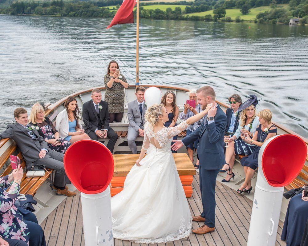 First dance on Ullswater steamer, Inn on the Lake Weddings, Lake District