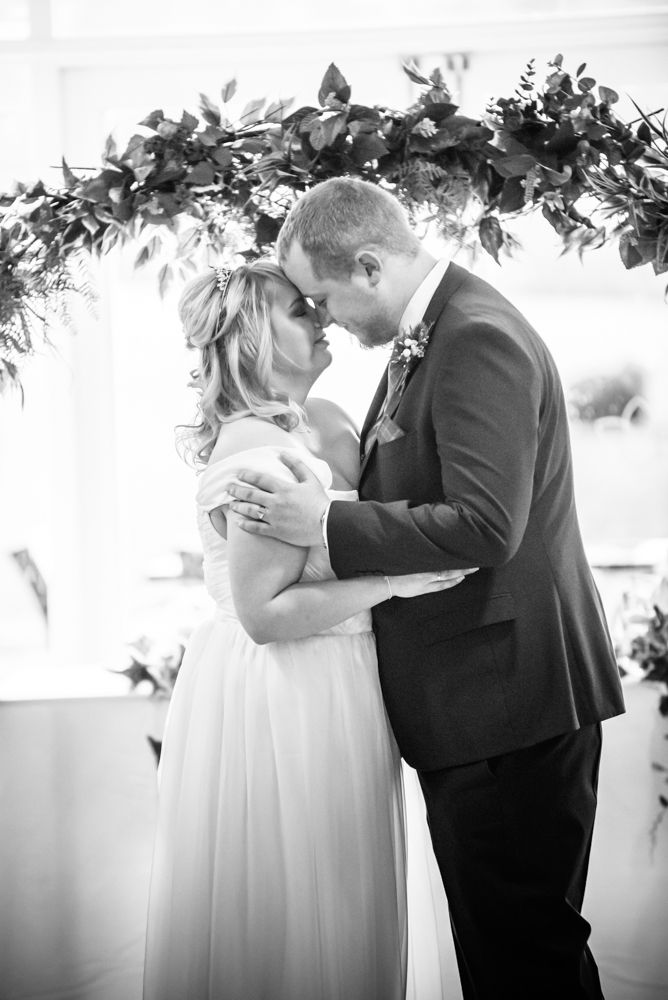 Moments before first kiss, Daffodil Hotel and Spa, Grasmere, Lake District wedding photos