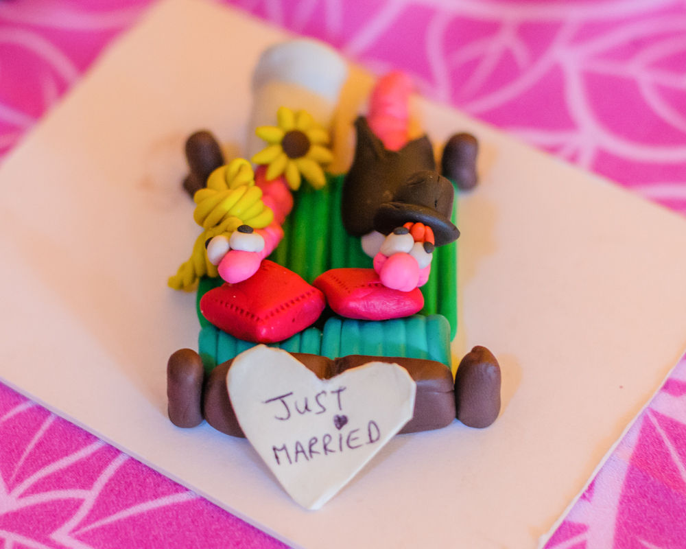 Play doh wedding couple