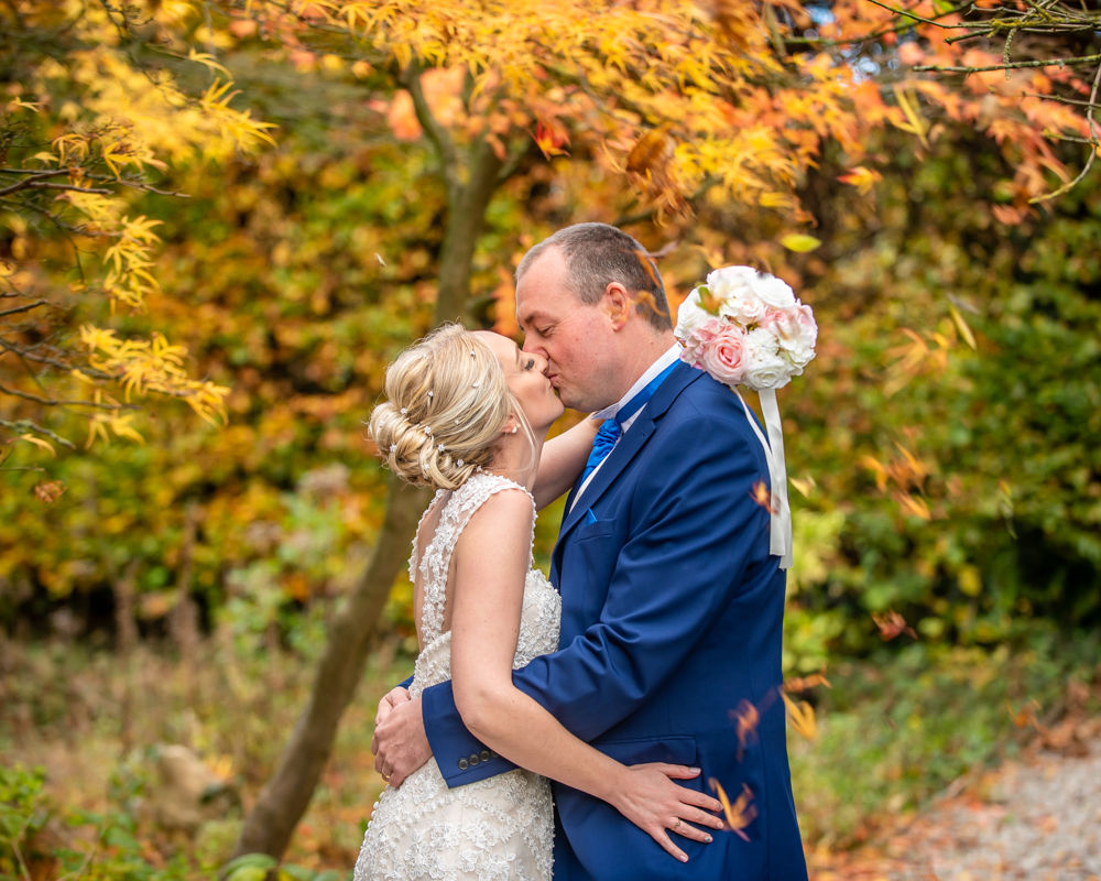 Kisses under the Autumn leaves, at Ringwood Hall, Chesterfield