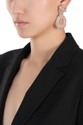 Rose gold faux diamond earrings by Aster