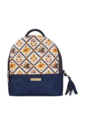 Blue Multi Functional Backpack by Imar