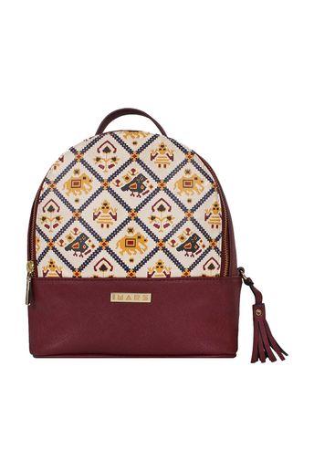 Maroon Multi Functional Backpack by Imar